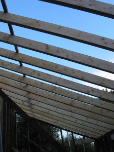The HF Beam is just visible through the roof timbers